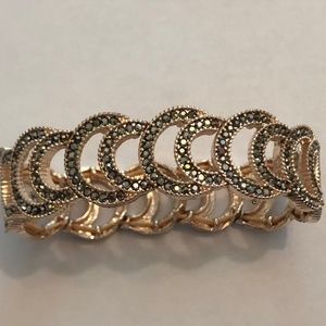 Jewelry - Marcasite and gold bracelet - fancy but every day!